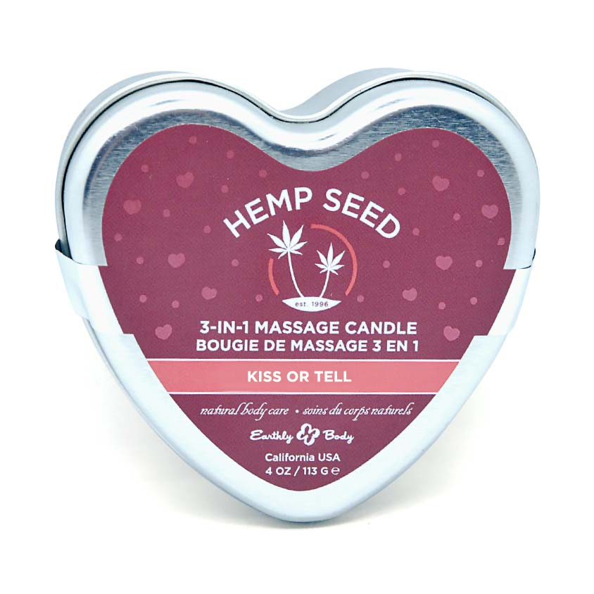 Earthly Body Massage Candle Kiss Or Tell