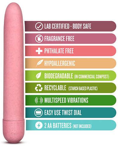 Gaia Biodegradeable Eco Vibrator Features