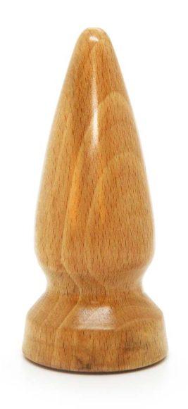 Beech Wooden Butt Plug Detail