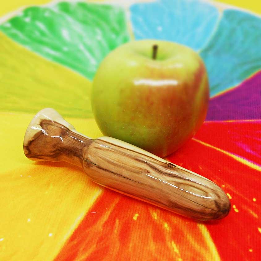 Small Apple Wood Butt Plug LGBTQ