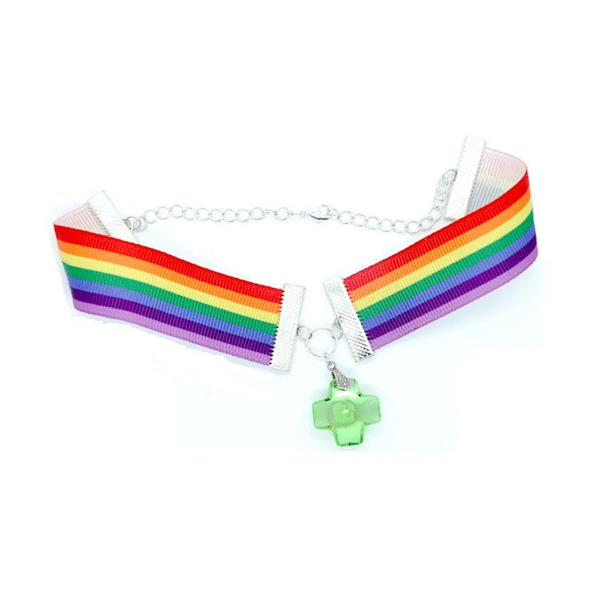 Pride Choker rainbow diversity queer