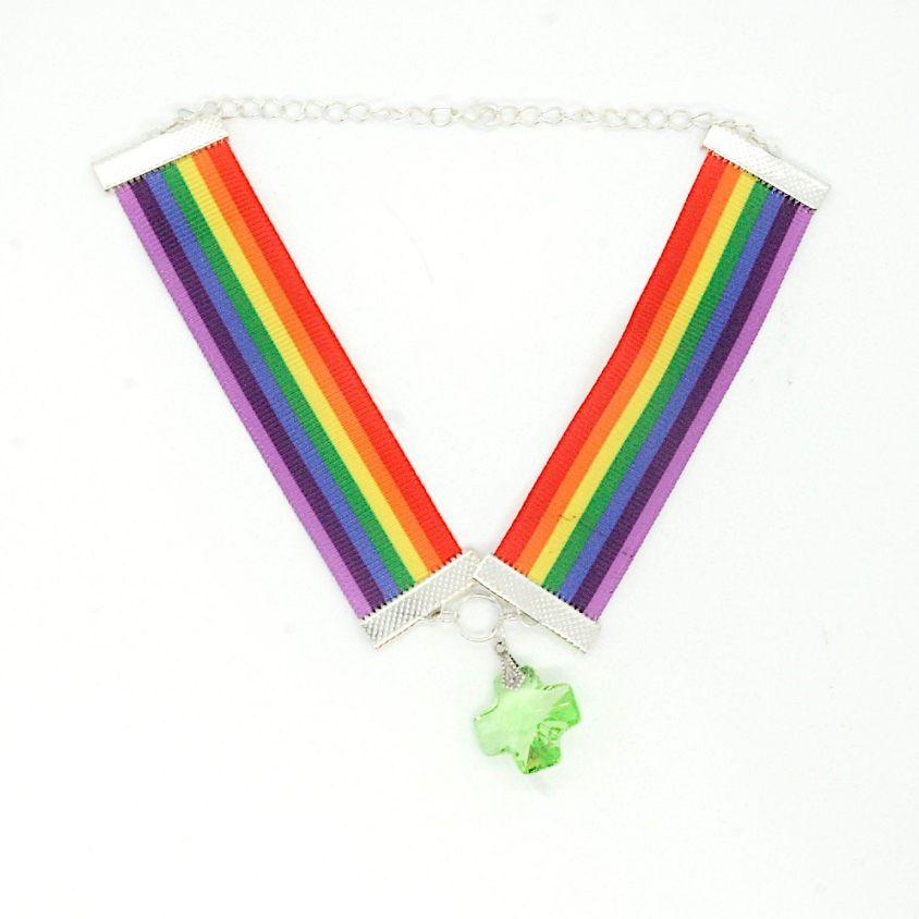 Pride Rainbow Choker LGBT Gay Lesbian LGBT+
