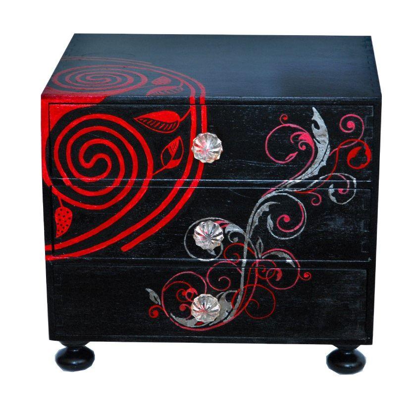Black upcycled storage chest