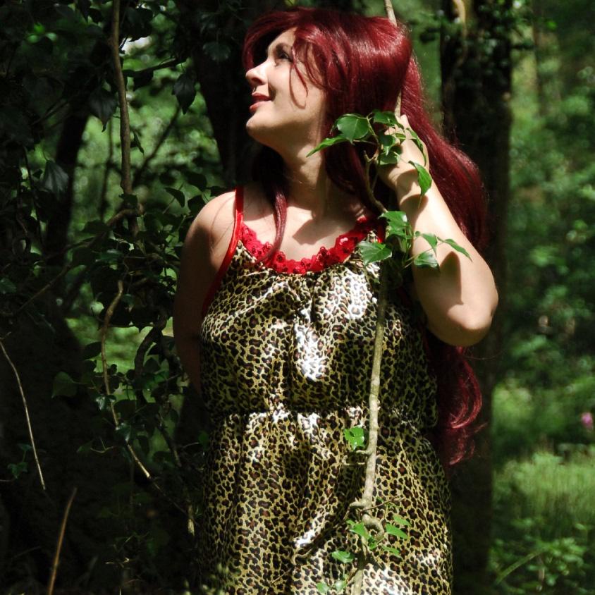 girl in leopard print cami