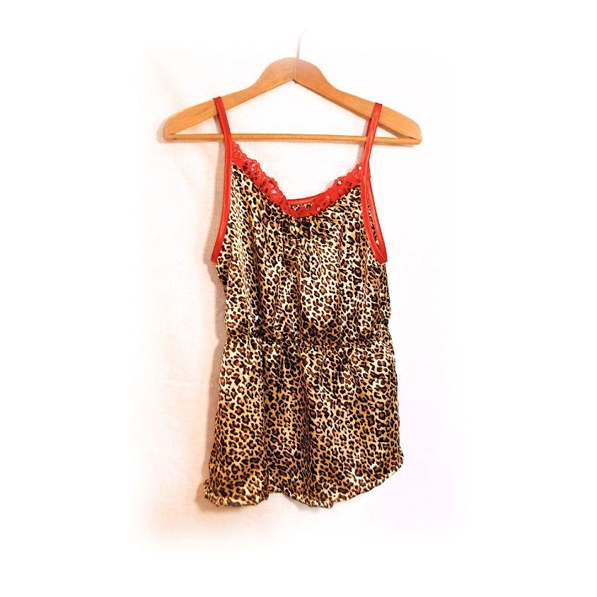 Leopard print camisole top