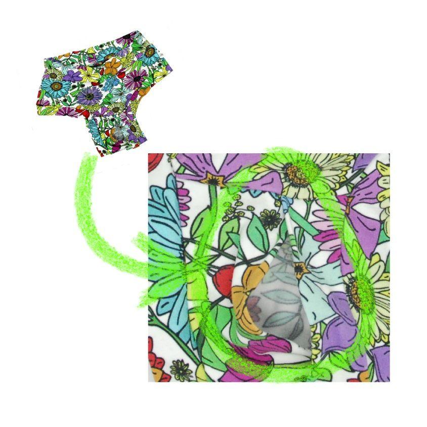 Split crotch floral knickers
