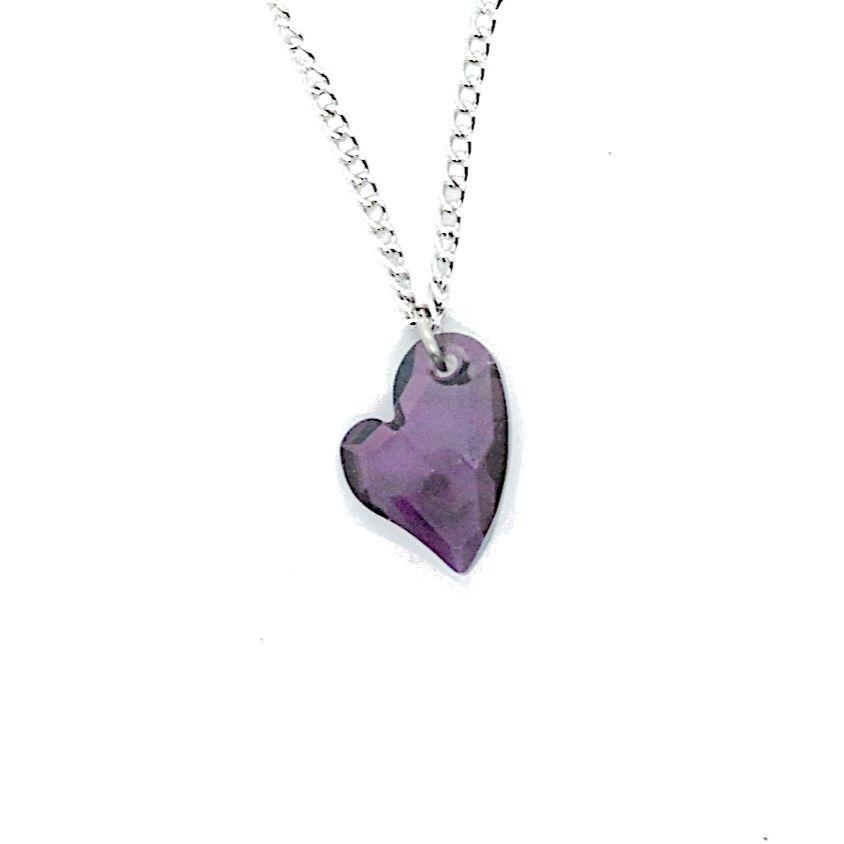 Sideways Heart Necklace symbolic kinky