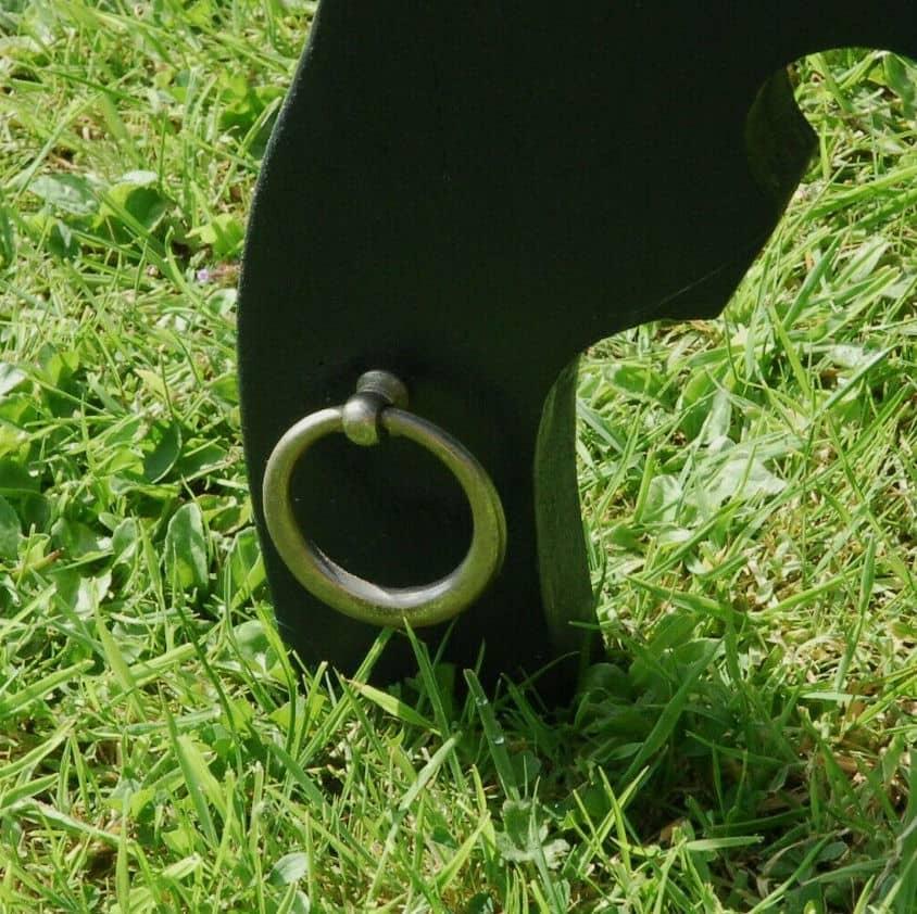 Upcycled spanking prayer stand detail