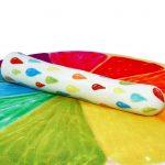 rainbow rain stoneware dildo