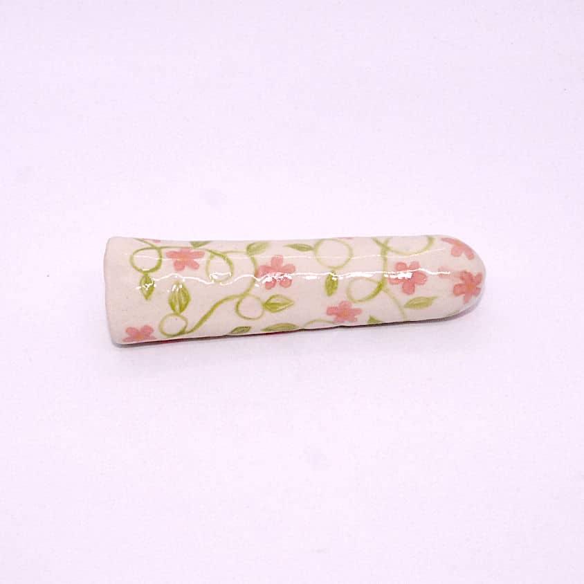 Ceramic floral dildo